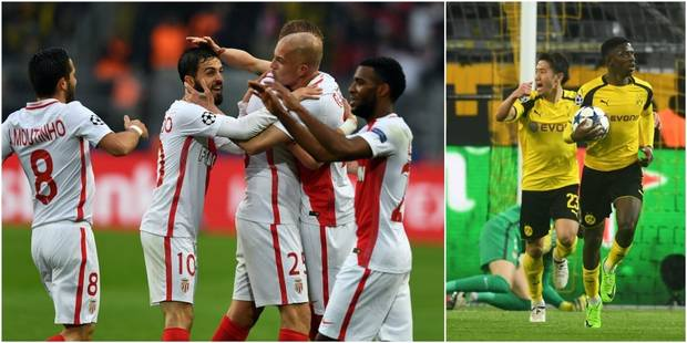 C1: Monaco prend une option sur les demis en s'imposant à Dortmund (2-3) - La DH