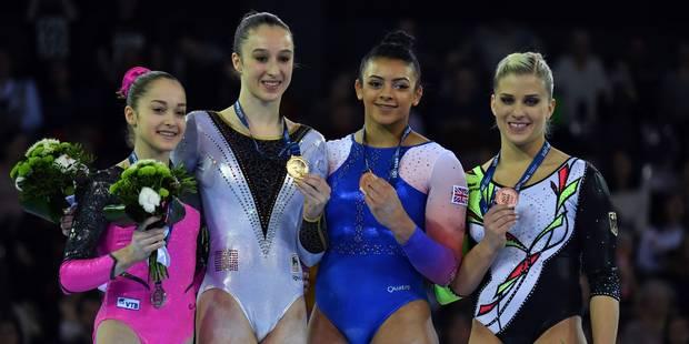 Nina Derwael médaillée d or aux barres asymétriques à l Euro de gymnastique