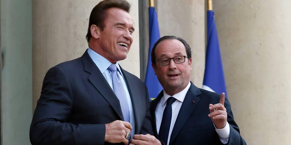"Hollande à Schwarzenegger: ""I'll not be back"""