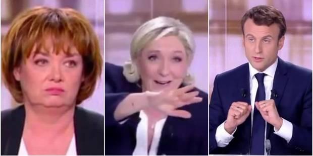 Saint-Cricq au bout du rouleau, Le Pen en freestyle et la salive de Macron: Le débat présidentiel vu par Twitter (VIDEO)...