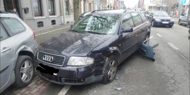 Quatre voitures accidentées à Marchienne-au-pont - La DH