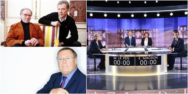 """De Brigode, Vrebos et Bredael donnent leur avis sur le débat Macron/Le Pen : """"Je les aurais interrompus, même impoliment..."""