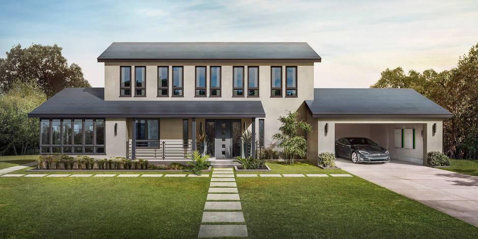 Le toit énergétique de Tesla en vente en Belgique - La DH