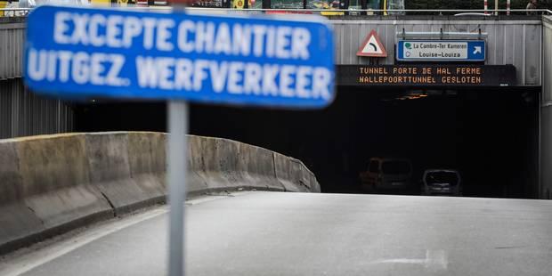 Chaos à Bruxelles: Le tunnel Porte de Hal fermé pour rénovation - La DH