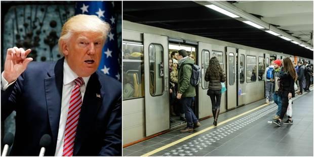 Trump à Bruxelles: voici les perturbations attendues dans les transports en commun mercredi et jeudi - La DH