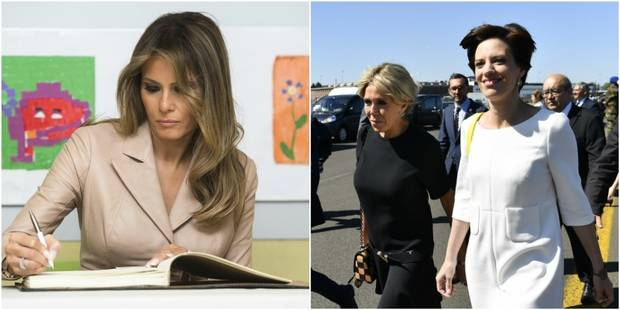 "Melania Trump, Brigitte Macron et Amélie Derbaudrenghien, trois ""First Ladies"" à Bruxelles (PHOTOS et VIDEO) - La DH"