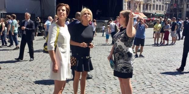 Brigitte Macron et Amélie Derbaudrenghien en escapade discrète dans le centre de Bruxelles (PHOTO) - La DH
