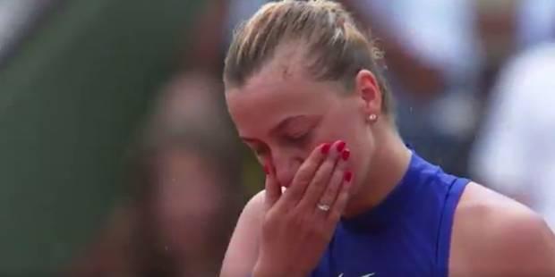 Petra Kvitova en larmes après sa qualification (VIDEO) - La DH