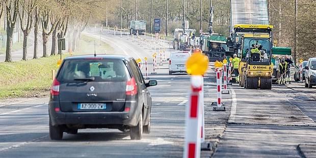 """Attention ce lundi sur la route de Wallonie: Chantier au carrefour """"Air Liquide"""" - La DH"""