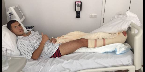 Eden Hazard donne des nouvelles après son opération à la cheville (PHOTO) - La DH