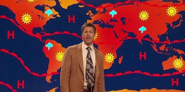 Brad Pitt est devenu... présentateur météo - La DH