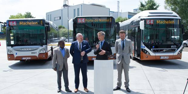 La Stib teste trois prototypes de bus hybrides - La DH