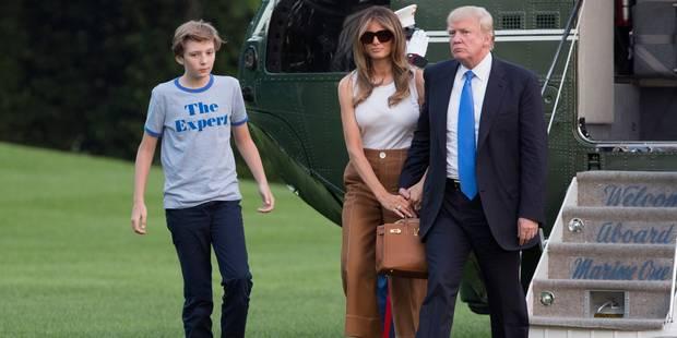 Melania Trump, son fils et ses parents sont arrivés à la Maison Blanche - La DH