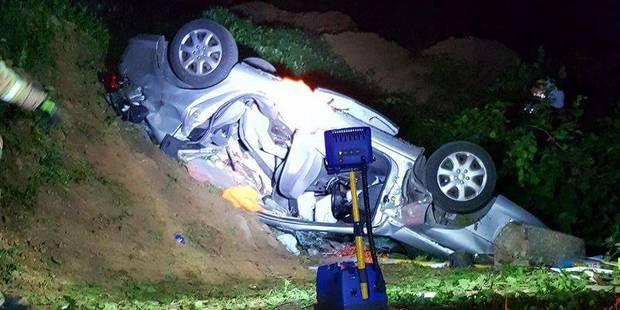 Terrible accident à Erquelinnes: un mort et trois blessés lors d'une sortie de route - La DH