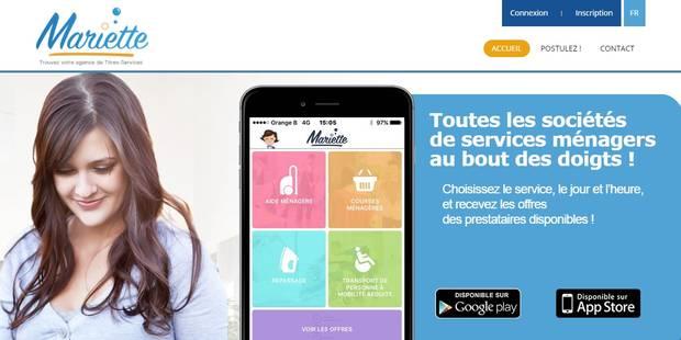 Mariette, le Uber des titres-services - La DH
