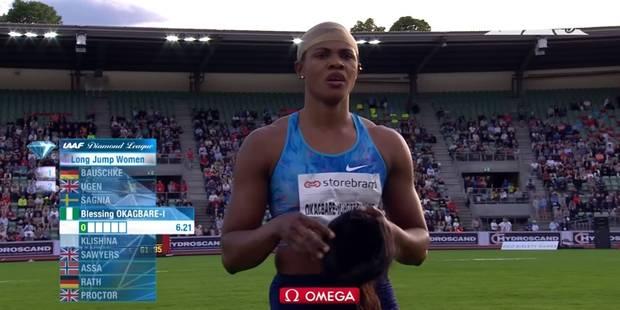 Une athlète perd sa perruque lors d'un saut en longueur (VIDEO) - La DH