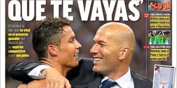 "Zidane tente de conserver sa star: ""Cristiano, je ne veux pas que tu partes"" - La DH"