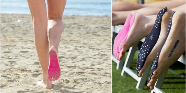 """L'invention géniale : les semelles """"seconde peau"""" contre le sable brûlant de l'été - La DH"""