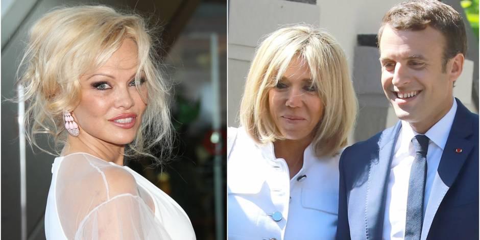 Pamela Anderson invite officiellement le couple Macron dans son restaurant parisien !