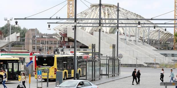 La passerelle de la gare de Mons est construite à 46 % - La DH