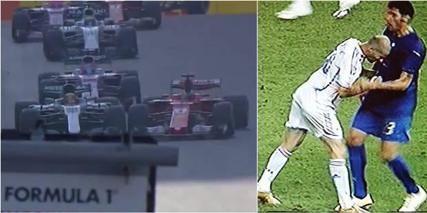 Clash en F1: Après Zidane, le coup de boule de Vettel (VIDEOS) - La DH