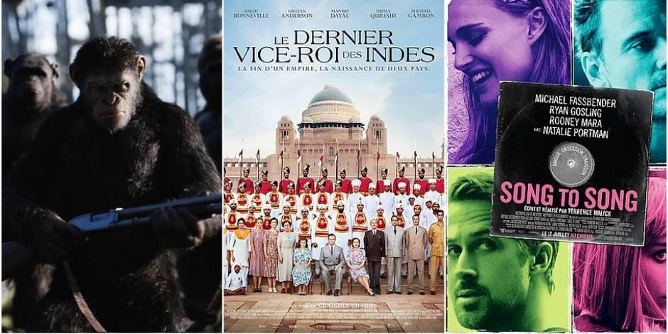 Sorties ciné de la semaine: des singes en pagaille , un Malick en roue libre et une Inde de carte postale (VIDEOS)