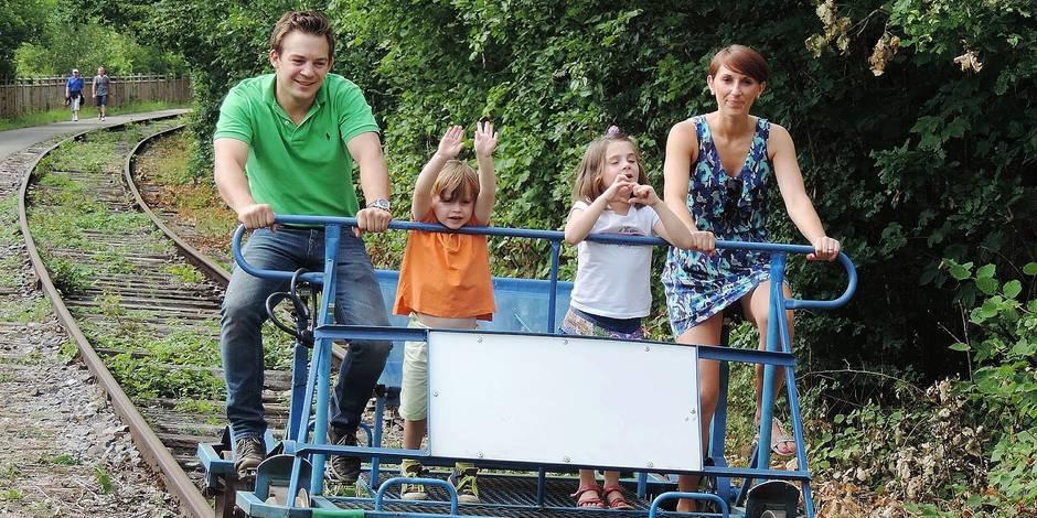 L'été chez nous: pédalez sur les rails, dans la vallée de la Molignée