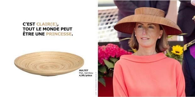 Ikea rebondit sur le chapeau de la princesse Claire avec beaucoup d'à-propos - La DH
