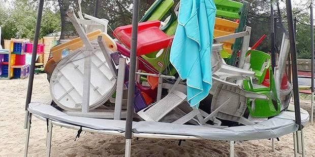 Tables, chaises et modules pour enfants cassés, excréments: des vandales s'attaquent à Visé plage ! - La DH