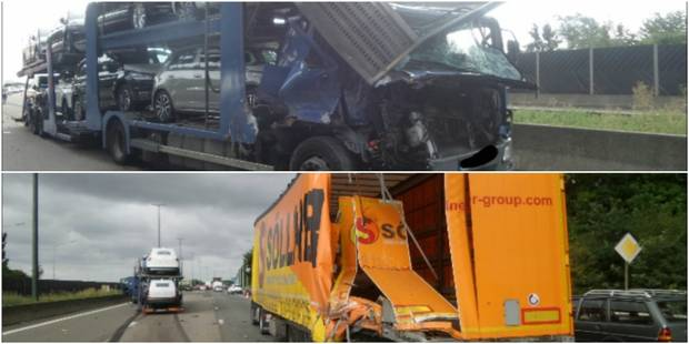 Deux accidents impliquant des camions sur l'E42 à hauteur de Pont-à-Celles - La DH