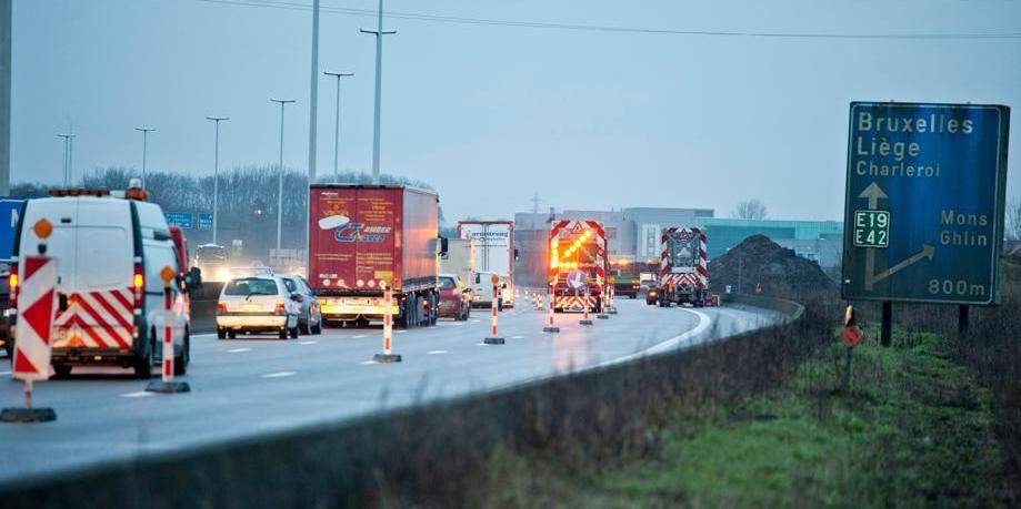 Échangeurs de Mons en chantier, pagaille annoncée sur la E19-E42/A7