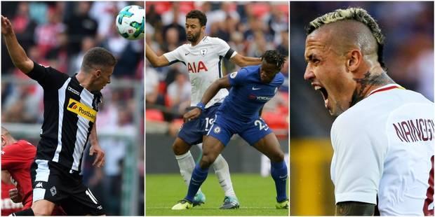 Les Belges à l'étranger: Thorgan Hazard et Nainggolan débutent bien, Batshuayi buteur contre son camp face aux Belgian S...