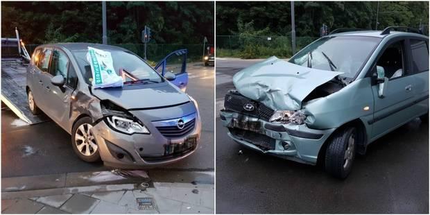 Collision entre deux voitures à Gosselies: deux blessés - La DH