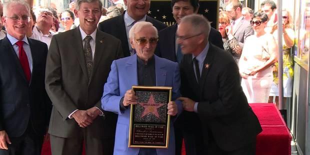 Charles Aznavour reçoit son étoile à Hollywood - La DH