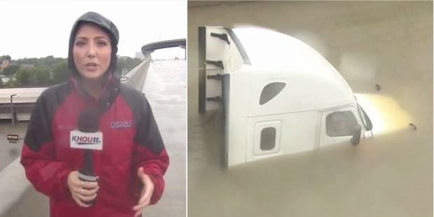 En direct, cette équipe de télé sauve un homme coincé par l'ouragan Harvey - La DH