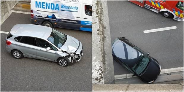 Collision et pagaille sur le petit ring de Charleroi: Deux blessés dans le tunnel Hiernaux - La DH