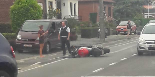Tertre: accident entre une voiture et une moto - La DH
