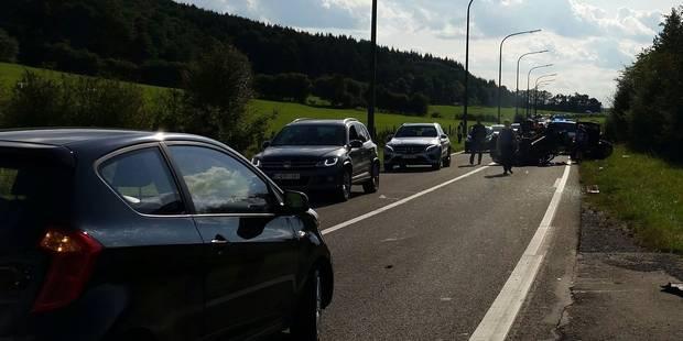 Accident à la sortie de Hotton - La DH