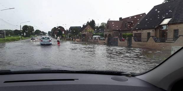 Chatelet: La rue de Namur inondée. - La DH