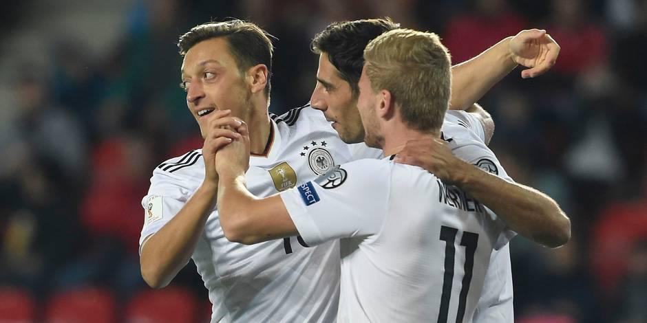 Qualifs Mondial 2018: l'Allemagne se rapproche de la Russie, l'Angleterre aussi