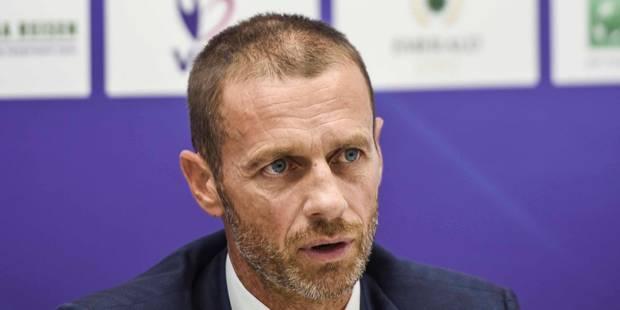 Le président de l'UEFA favorable au raccourcissement du mercato - La DH