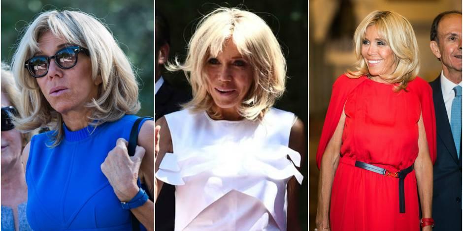 Brigitte Macron en bleu-blanc-rouge en Grèce