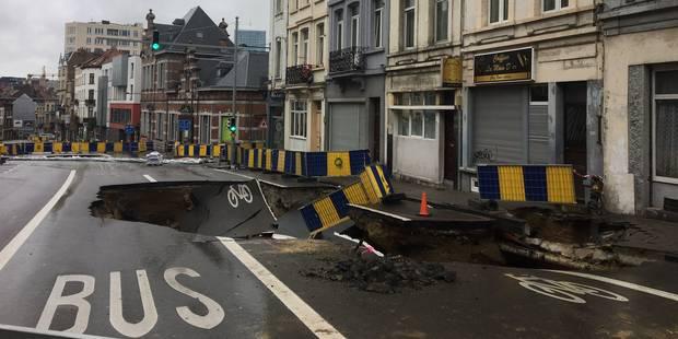 Saint-Josse : un second effondrement survenu chaussée de Louvain - La DH