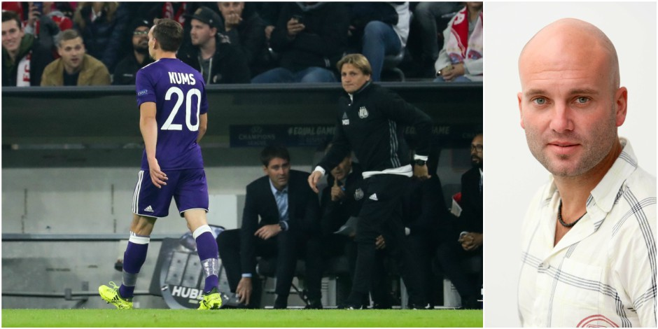 Anderlecht: le problème Kums s'est aggravé mardi soir