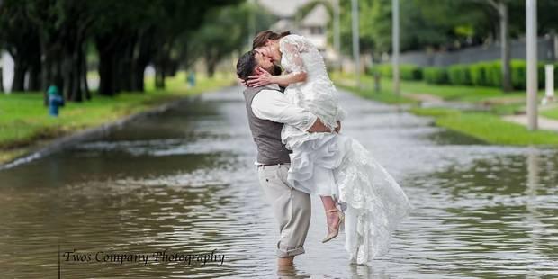 Harvey: un couple se marie malgré les éléments - La DH
