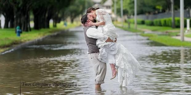 Rien ne pouvait empêcher ce couple de se marier, même pas Harvey - La DH