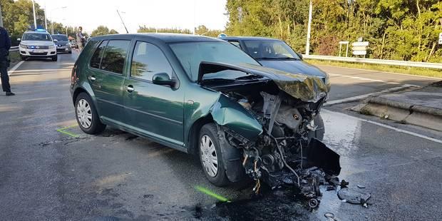 Crash spectaculaire à Jumet: pas de blessé - La DH