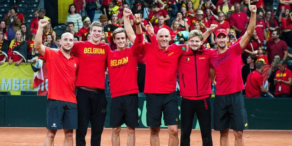 Goffin en tête, l'équipe de Belgique de Coupe Davis a (très) bien fêté la victoire