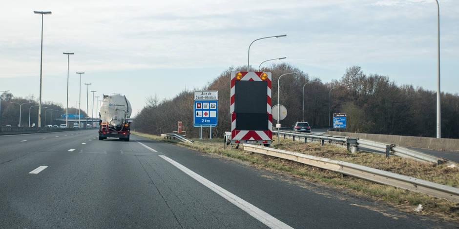 A7: Six kilomètres de travaux dès ce vendredi entre Mons et Saint-Ghislain