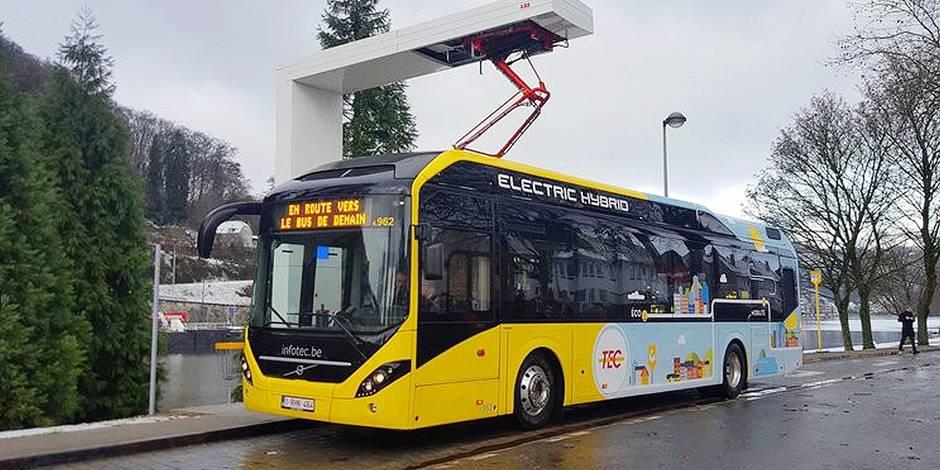 Les bus hybrides débarquent à Charleroi - La DH